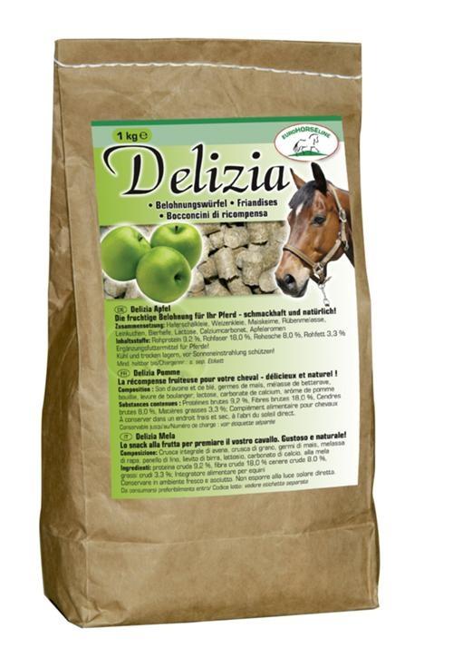 Delizia hestegodt med eplesmak
