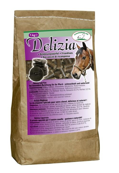 Delizia hestegodt med lakrissmak