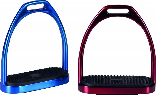 Royal Steel, farvede stigbøyler.