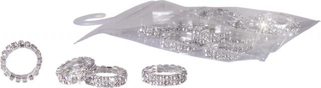 Elastiske fletteringer med krystaller. Sølv
