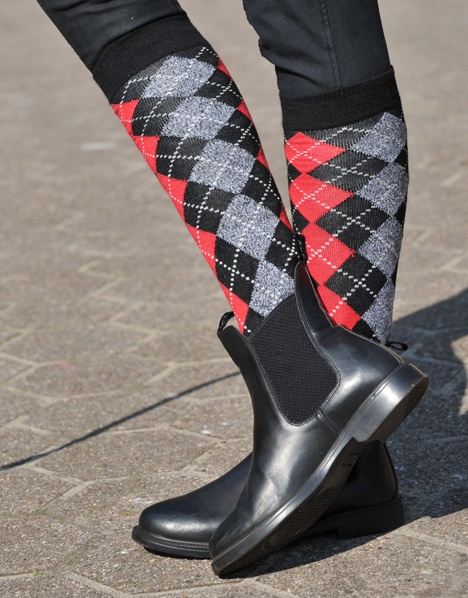 KL, long sock with check. TILBUD