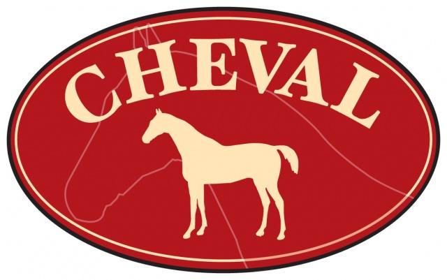 Cheval, stiremmer m/krystaller.